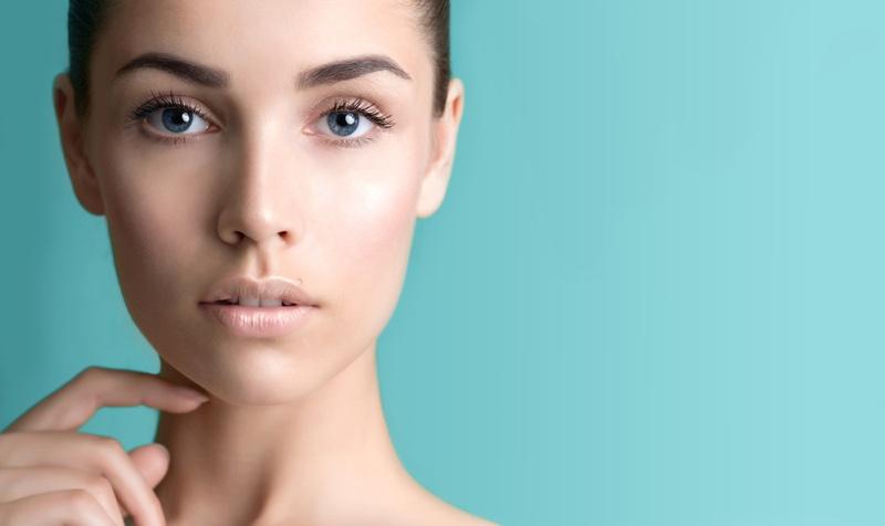 Closeup Beauty Model Clear Skin Natural Looking Makeup