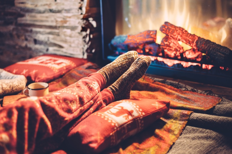 Electric Fireplace Cozy Winter Decor