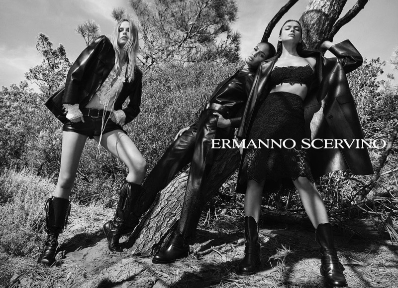Ermanno Scervino taps leading models Natasha Poly, Joan Smalls, and Irina Shayk for spring-summer 2021 campaign.
