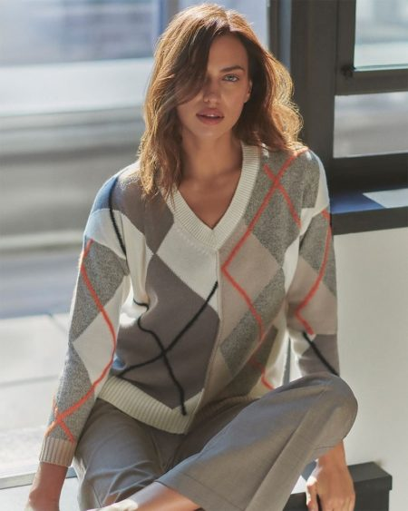 Irina Shayk models Superior Cashmere collection from Falconeri.