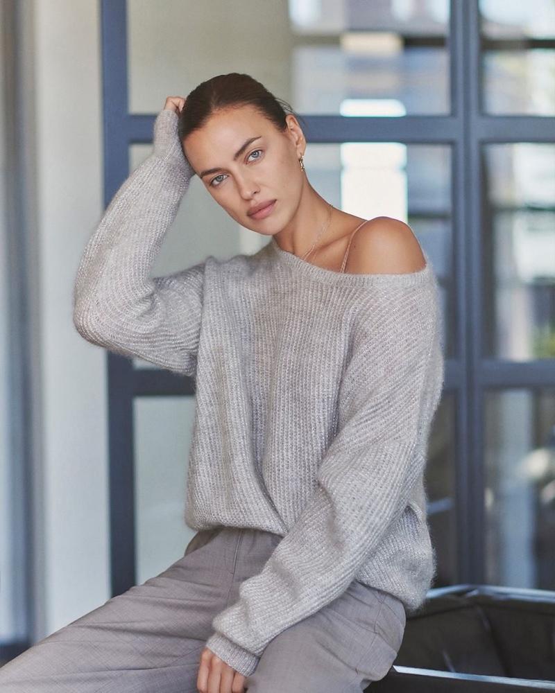 Embracing neutral hues, Irina Shayk models Falconeri's winter 2020 collection