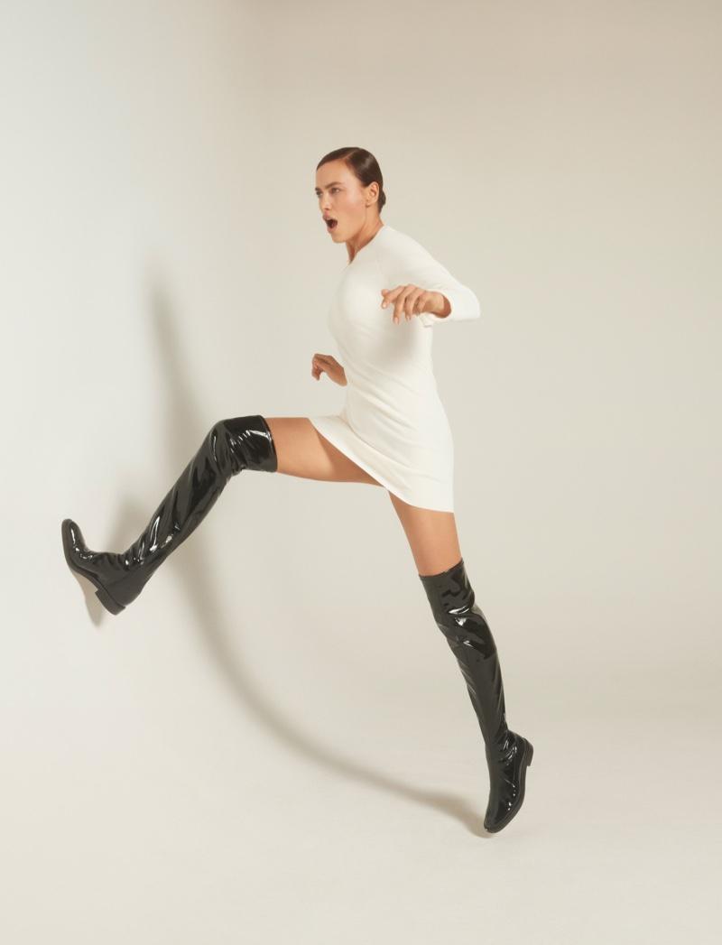 Irina Shayk Strikes a Pose for Schutz Holiday 2020 Campaign