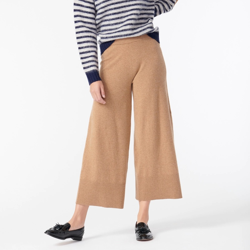 J. Crew Wide-Leg Sweatpant  in Featherweight Cashmere $288