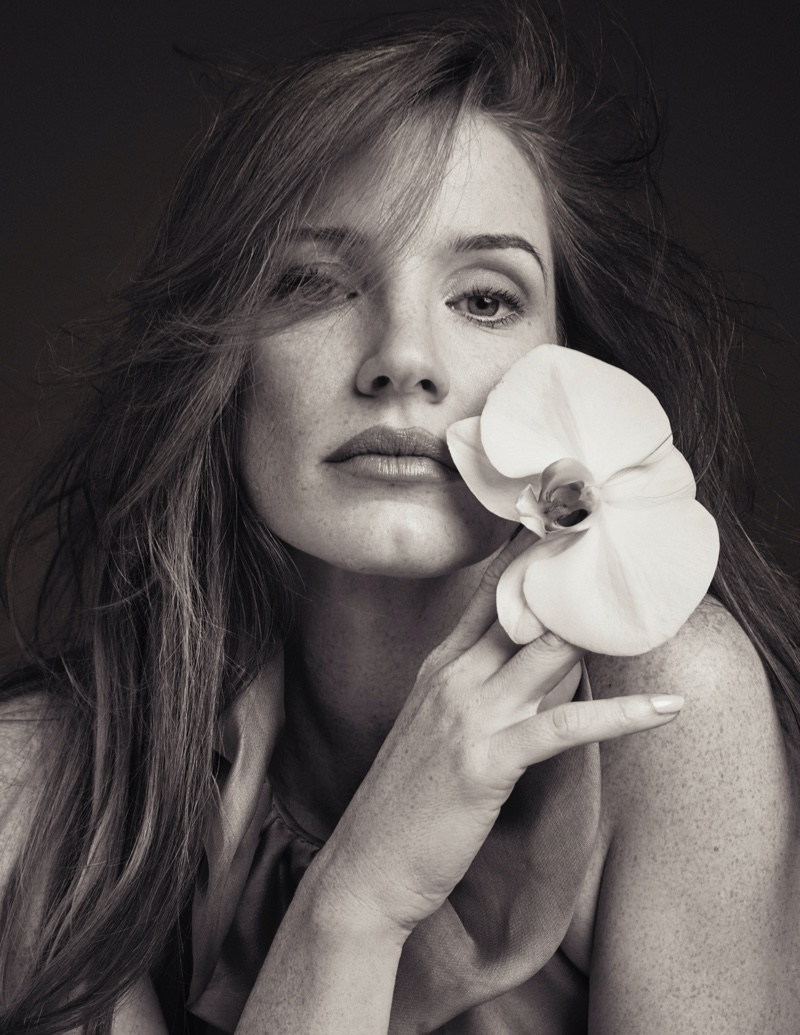Jessica Chastain gets her closeup in this shot. Photo: David Roemer
