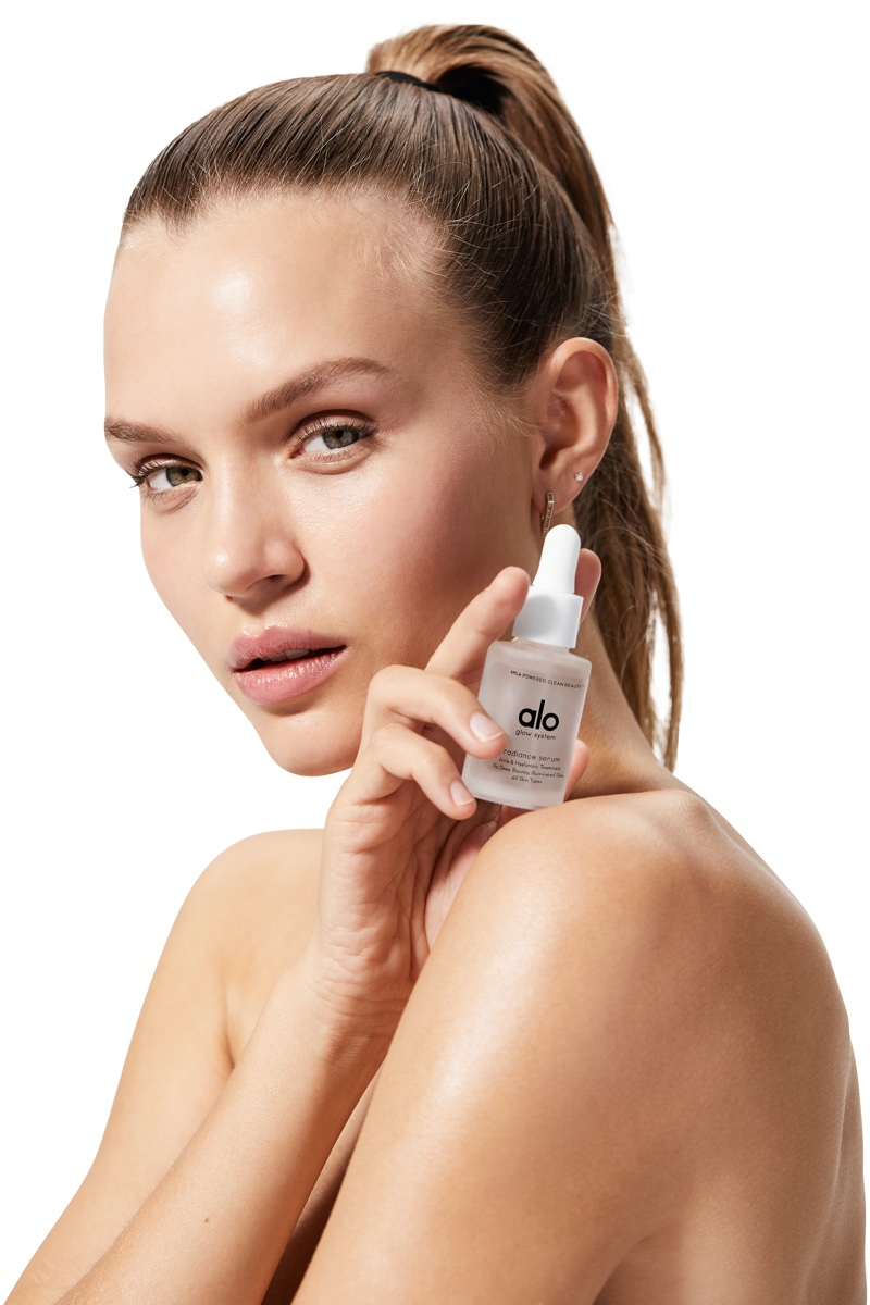 Josephine Skriver gets her closeup with Alo Yoga's new skincare collection.