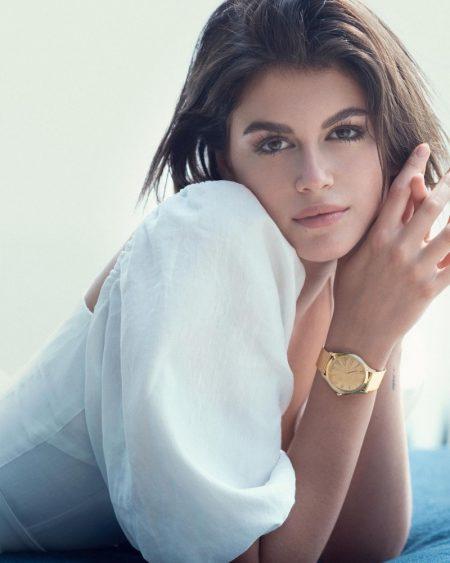 Kaia Gerber stars in Omega Tresor watch campaign.