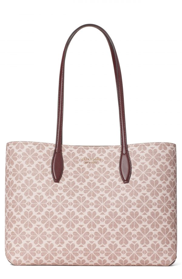 Kate Spade New York All Day Spade Flower Coated Canvas Tote - Pink