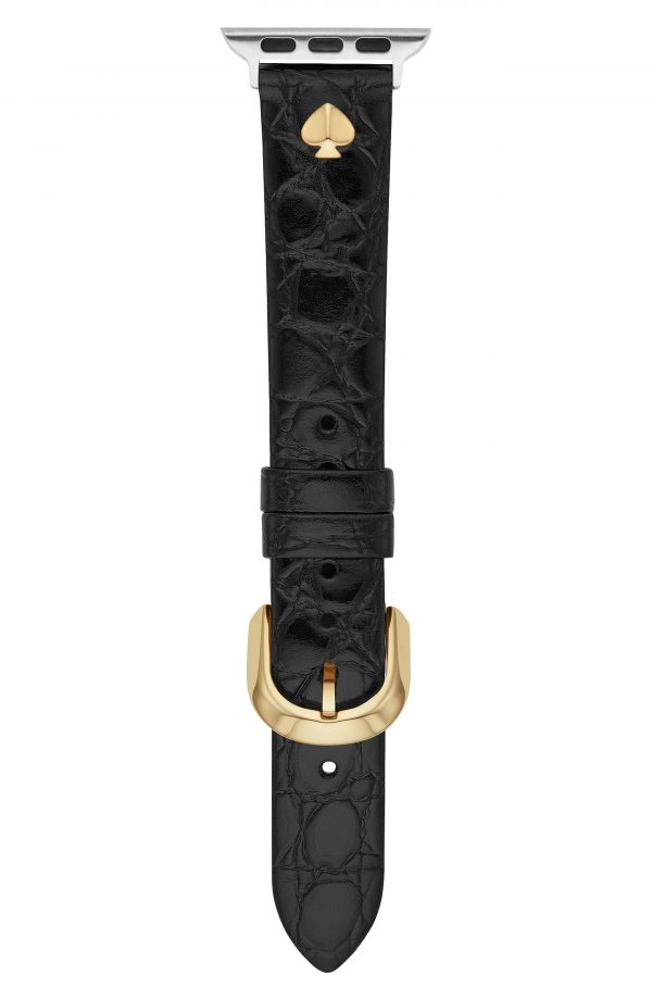Kate Spade New York Croc Embossed Leather Apple Watch Strap (Nordstrom Exclusive)