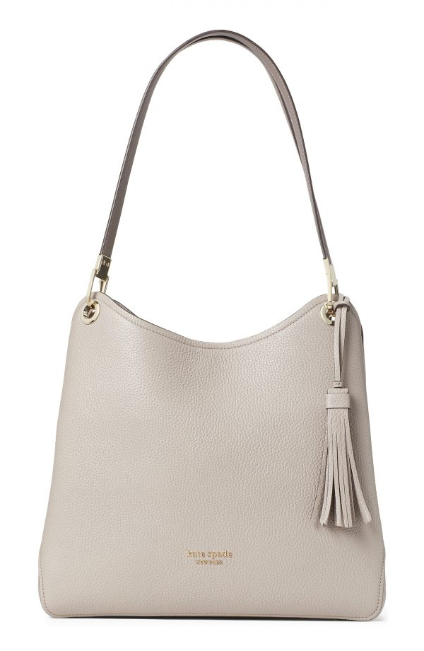Kate Spade New York Large Loop Leather Shoulder Bag - Beige