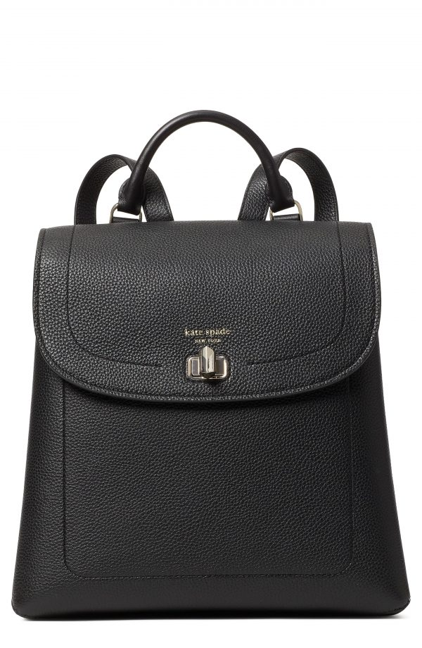 Kate Spade New York Medium Essential Leather Backpack - Black