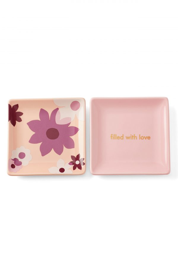 Kate Spade New York Sweet Talk Set Of 2 Trinket Trays, Size One Size - Blue