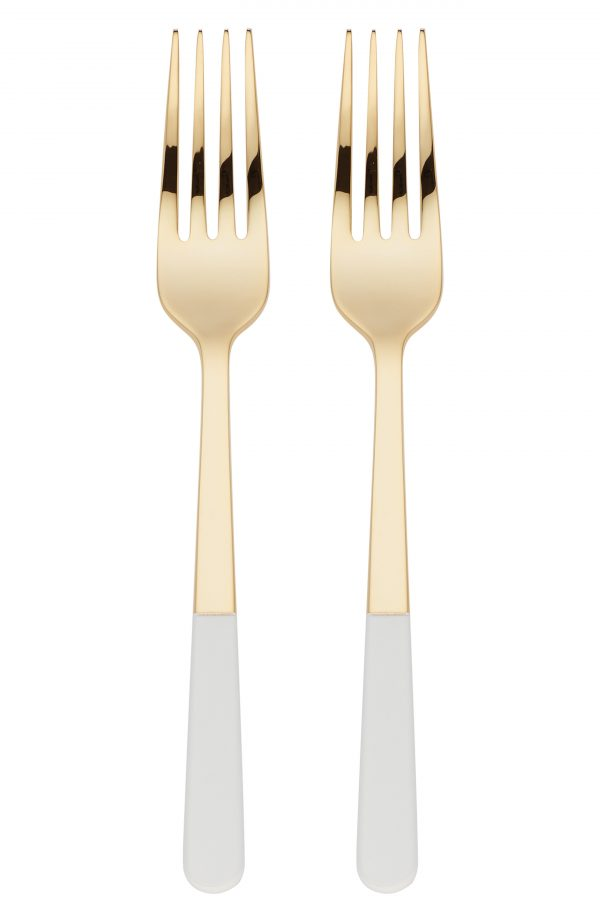 Kate Spade New York With Love Set Of 2 Tasting Forks, Size One Size - Metallic