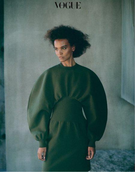 Liya Kebede Embraces Elegant Fashions for Vogue Korea