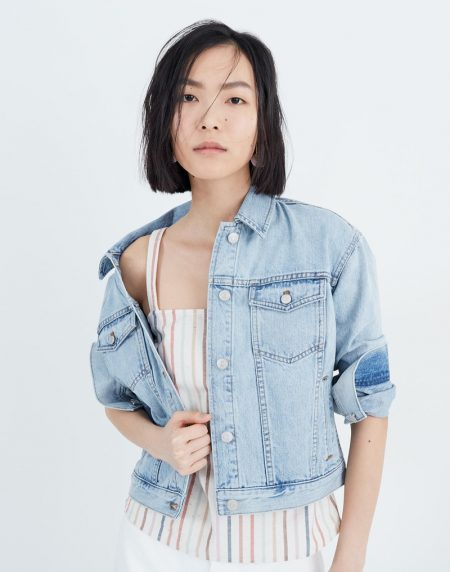 Madewell The Boxy-Crop Jean Jacket in Fitzgerald Wash $128