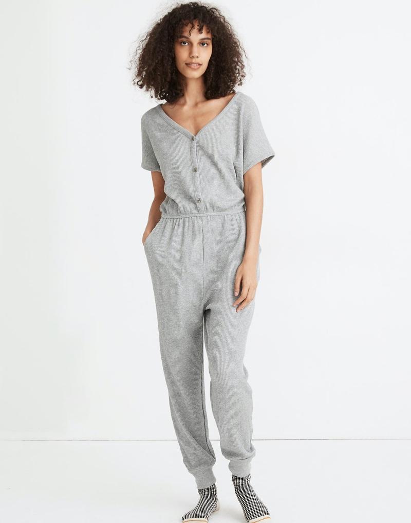 Madewell Waffle Knit Pajama Jumpsuit $98