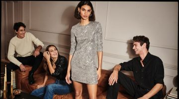 Sequin styles stand out in Mango Party edit 2020 trend guid