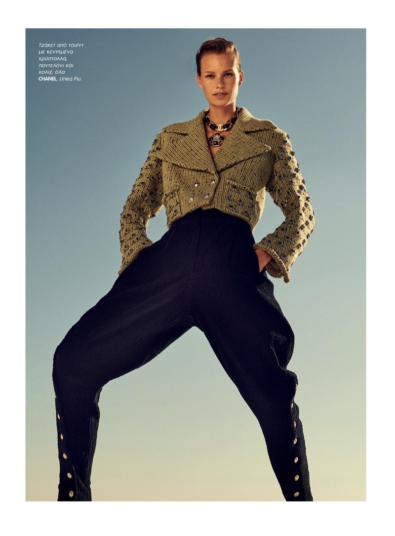 Mariina Keskitalo Poses in Sleek Looks for ELLE Greece