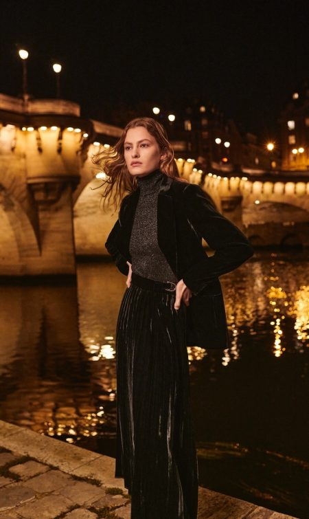 Massimo Dutti features velvet designs for Lights On editorial.