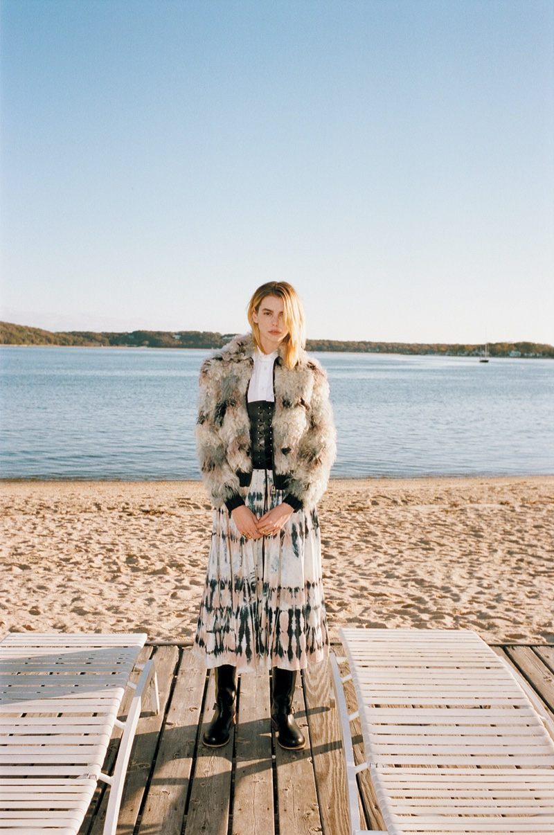 Michi DelanePoses in Dior's Cruise Collection for InStyle Mexico