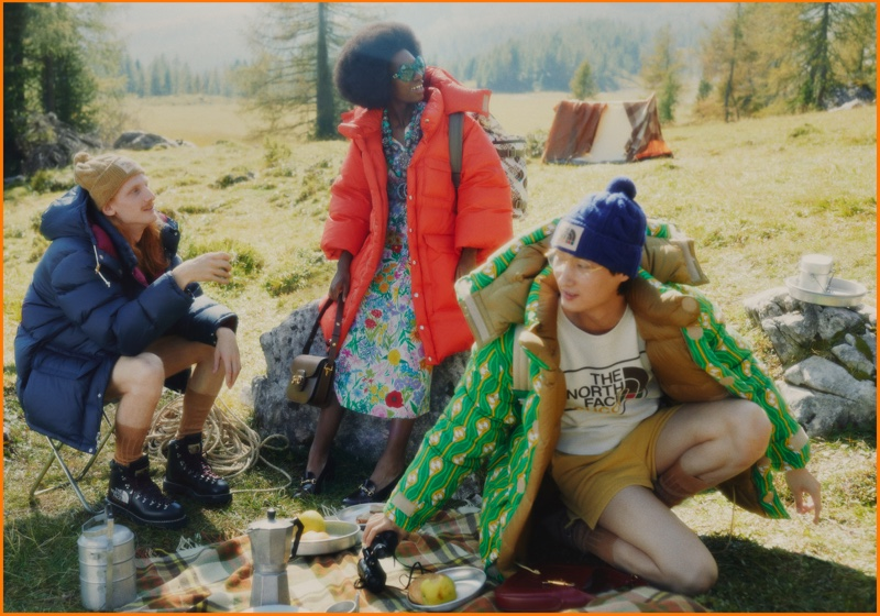 Outdoor style takes the spotlight in The North Face x Gucci campaign.