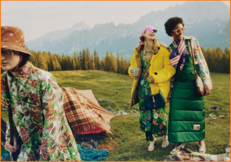 The North Face x Gucci showcase a new collaboration.