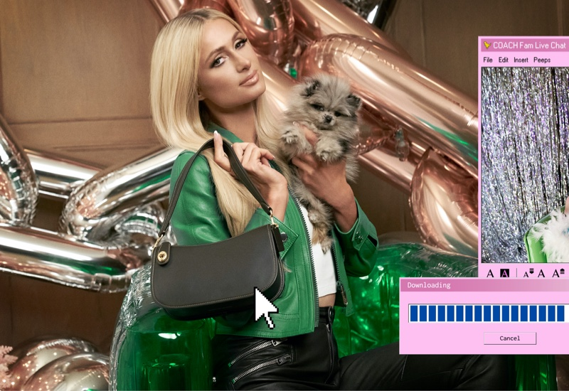 Coach taps Paris Hilton for a new advertising campaign featuring The Swinger bag.