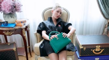 Princess Olympia of Greece stars in Louis Vuitton Capucines bag campaign.