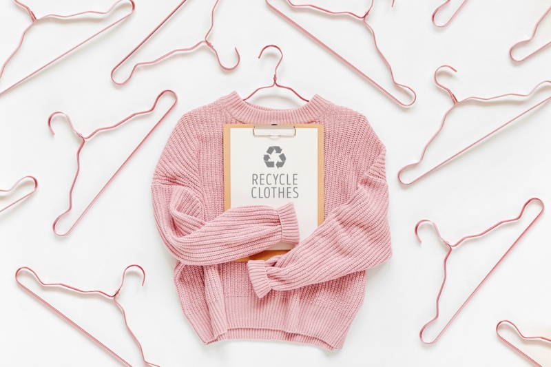 Recycle Clothes Pink Sweater Hangers