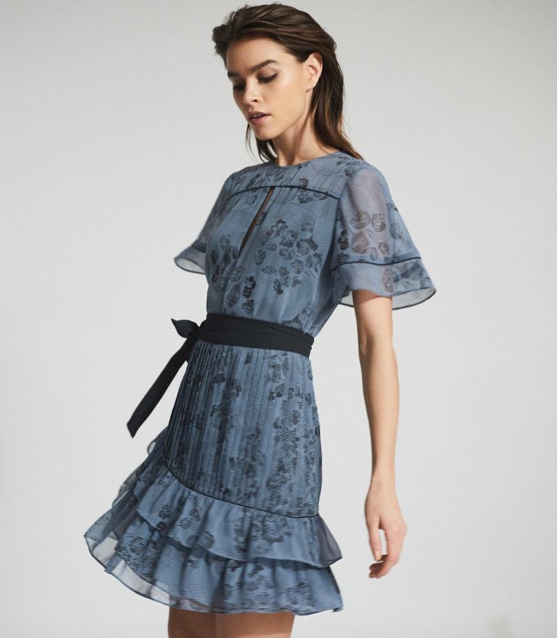 Reiss Dani Floral Printed Mini Dress $345