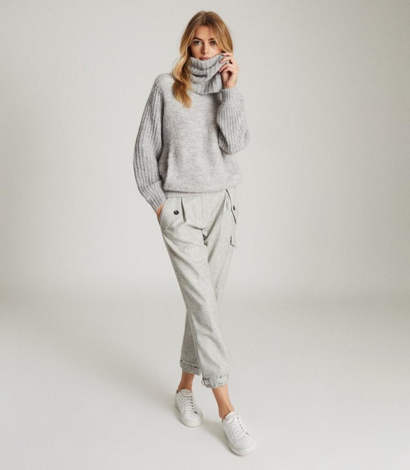 Reiss Emma Chunky Roll Neck Sweater $320