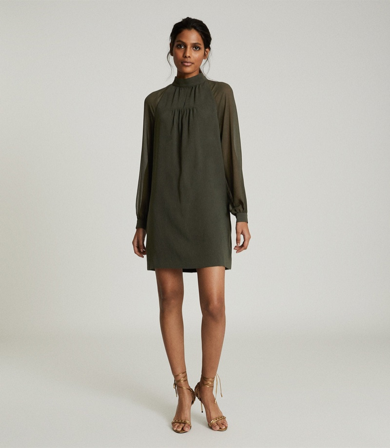 Reiss Leah Chiffon Shift Dress $370