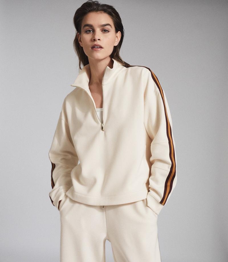 Reiss Libby Side Striped Loungewear Zip Through $245