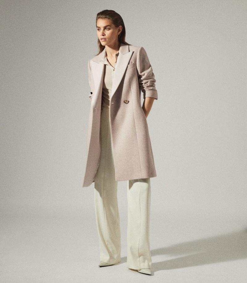 Reiss Mandie Contrast Collar Overcoat $620