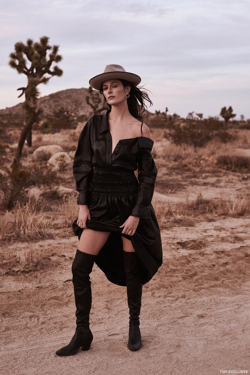 Dress Self Portrait, Boots Stella Luna, and Hat Fallenbrokenstreet. Photo: David Higgs
