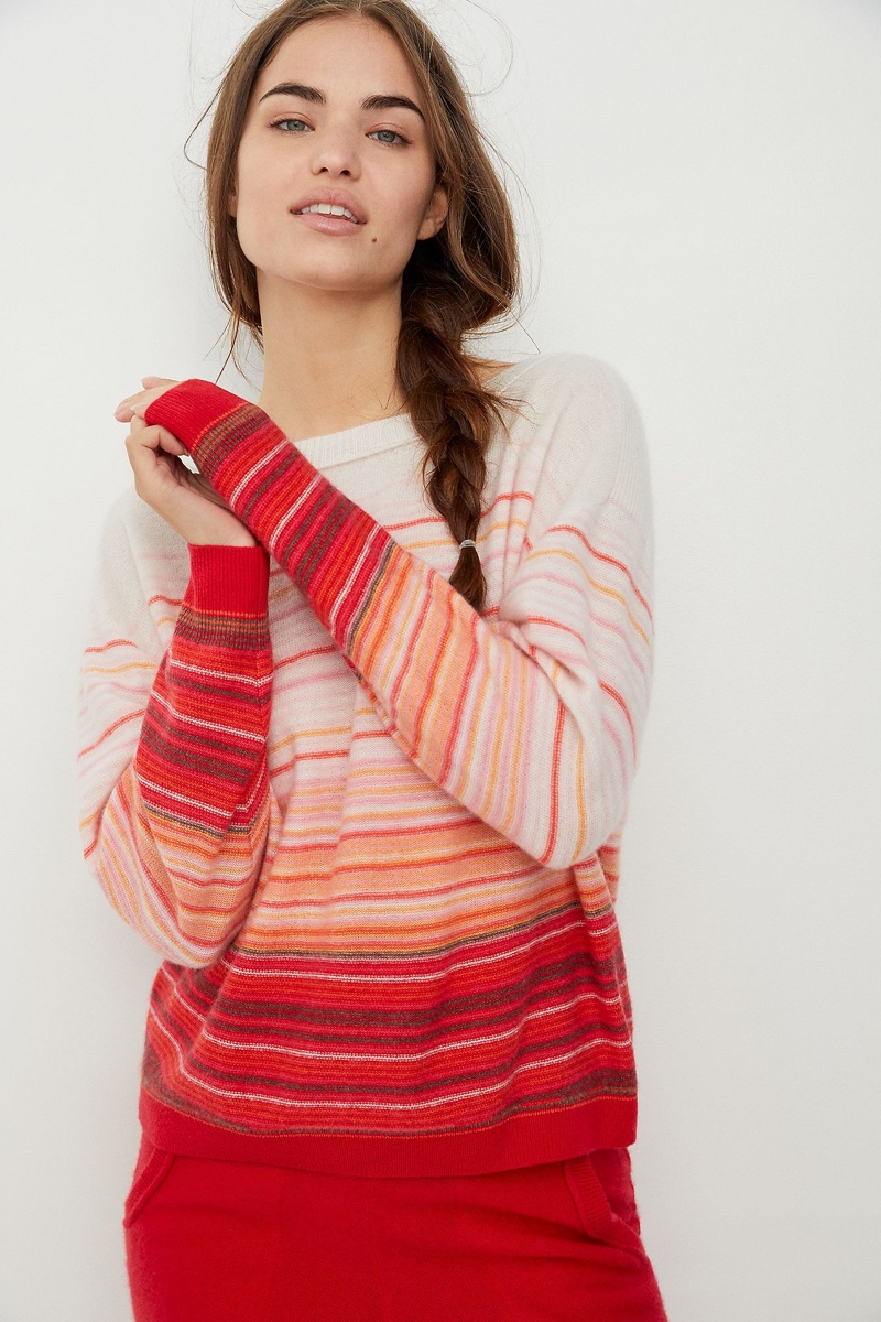 Saturday/Sunday Emmeline Cashmere Sweater in Stripe $148
