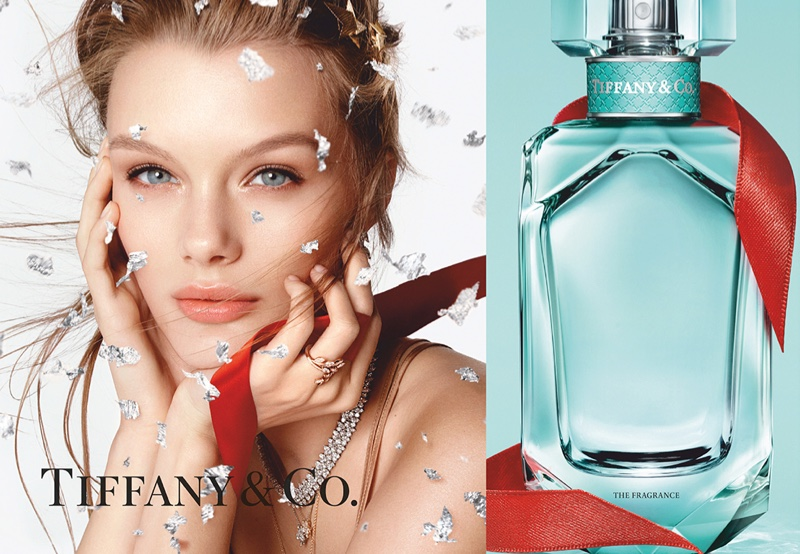 Kris Grikaite stars in Tiffany & Co. Tiffany fragrance Holiday 2020 campaign.