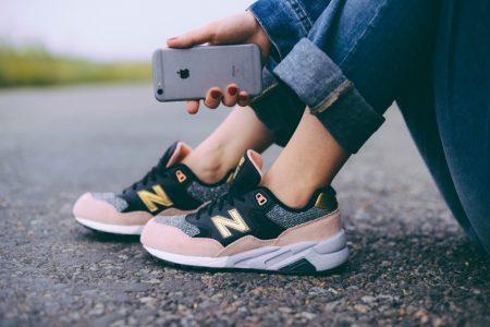 Women's Pink Black Grey New Balance Sneakers iPhone