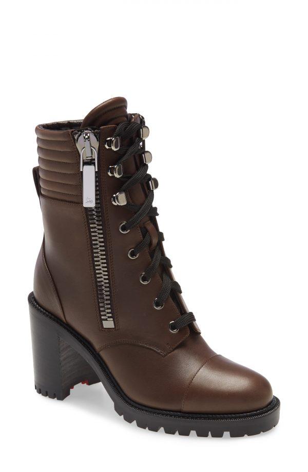 Women's Christian Louboutin En Hiver Hiking Boot, Size 5.5US - Brown