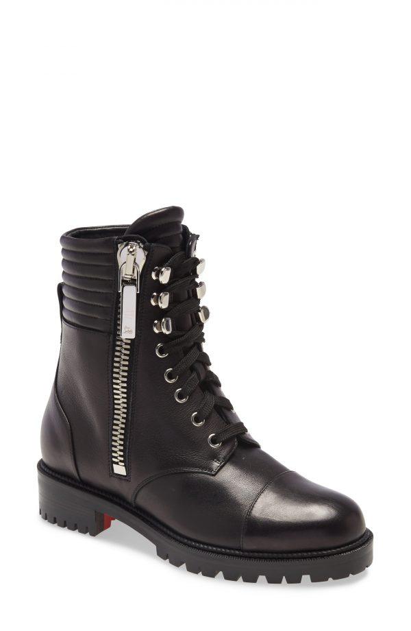 Women's Christian Louboutin En Hiver Hiking Boot, Size 6US - Black