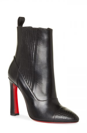 Women's Christian Louboutin Me In The '90S Pointy Toe Bootie, Size 4US - Black