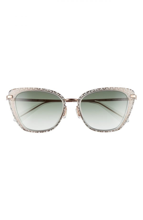 Women's Kate Spade New York 53mm Thelma Gradient Cat Eye Sunglasses - Green/ Grey Green Gradient