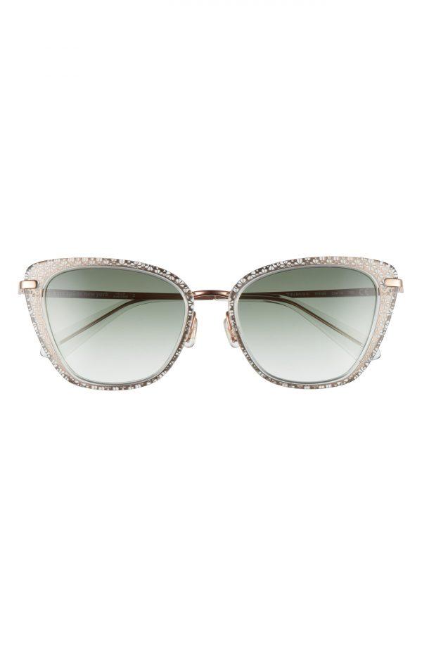 Women's Kate Spade New York 53mm Thelma Gradient Cat Eye Sunglasses - Green/ Grey Green Gradient