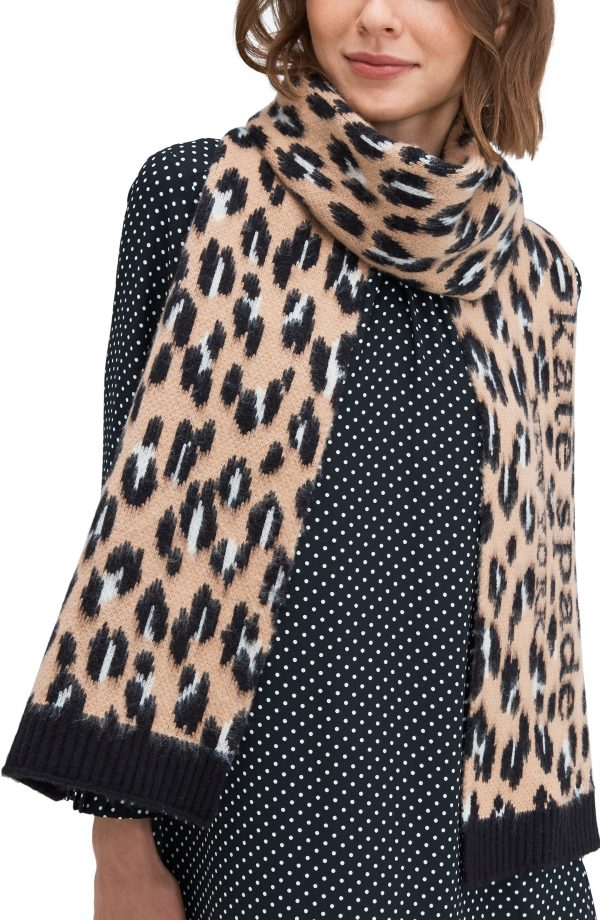 Women's Kate Spade New York Animal Scarf, Size One Size - Brown