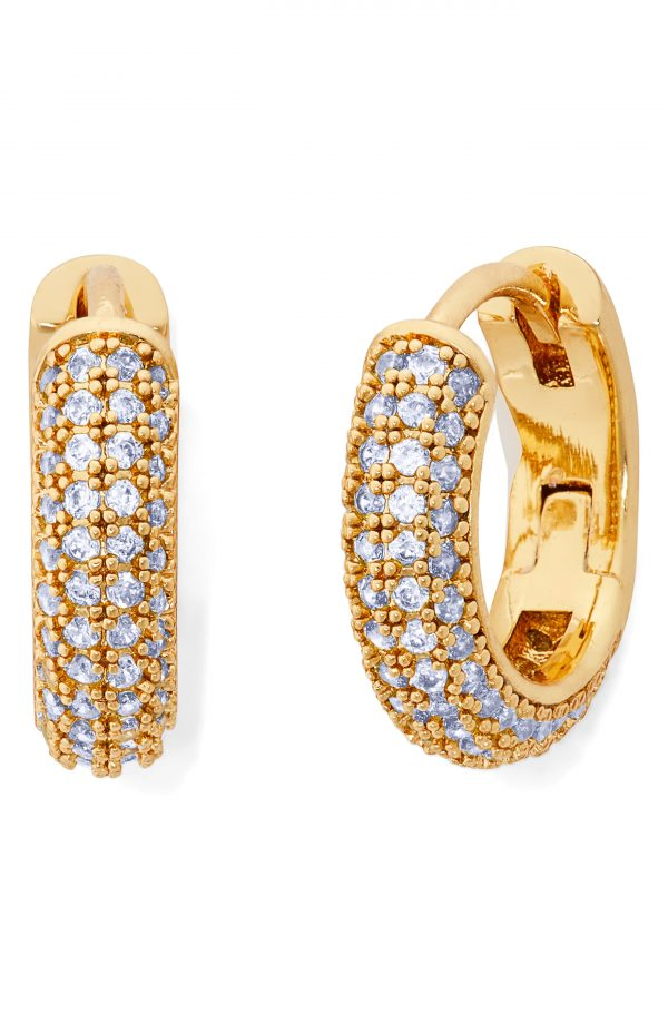 Women's Kate Spade New York Brilliant Statements Pave Mini Huggie Hoop Earrings