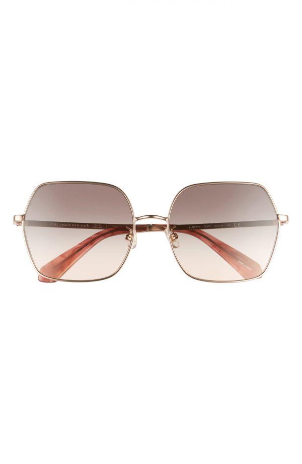 Women's Kate Spade New York Eloy 59mm Polarized Gradient Sunglasses - Pink/ Grey Fuschia