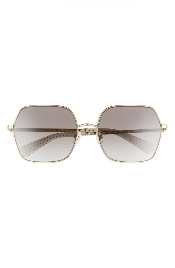 Women's Kate Spade New York Eloy 59mm Polarized Sunglasses - Silver/ Black/ Grey