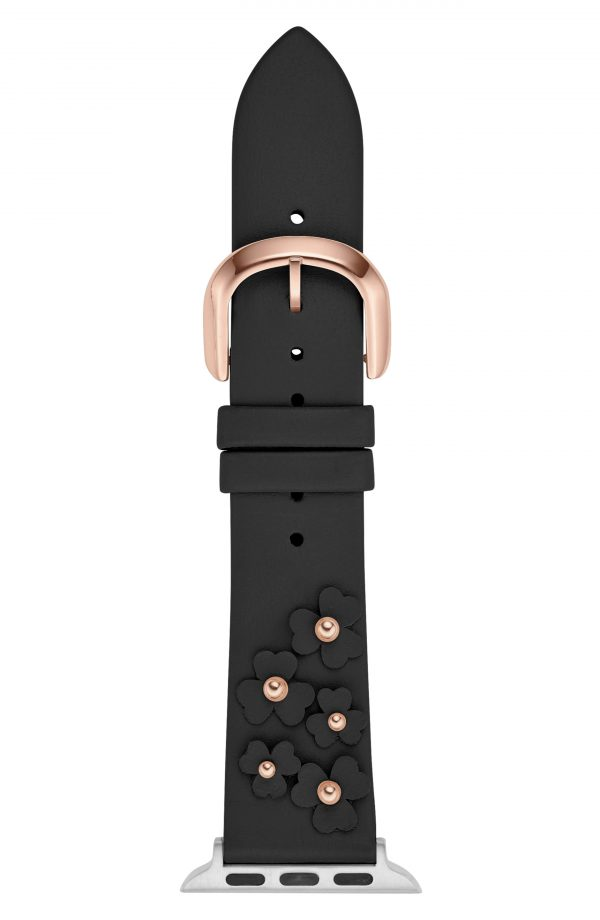 Women's Kate Spade New York Floral Applique Apple Watch Strap