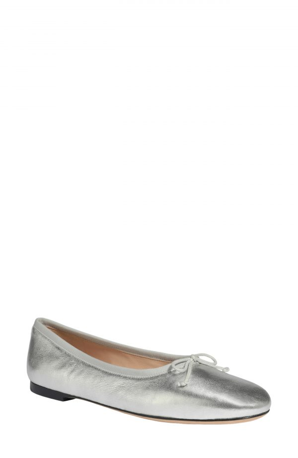 Women's Kate Spade New York Honey Ballet Flat, Size 5 M - Metallic