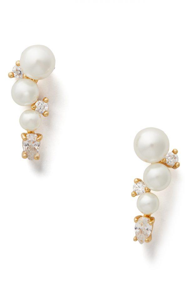 Women's Kate Spade New York Imitation Pearl Ear Crawlers