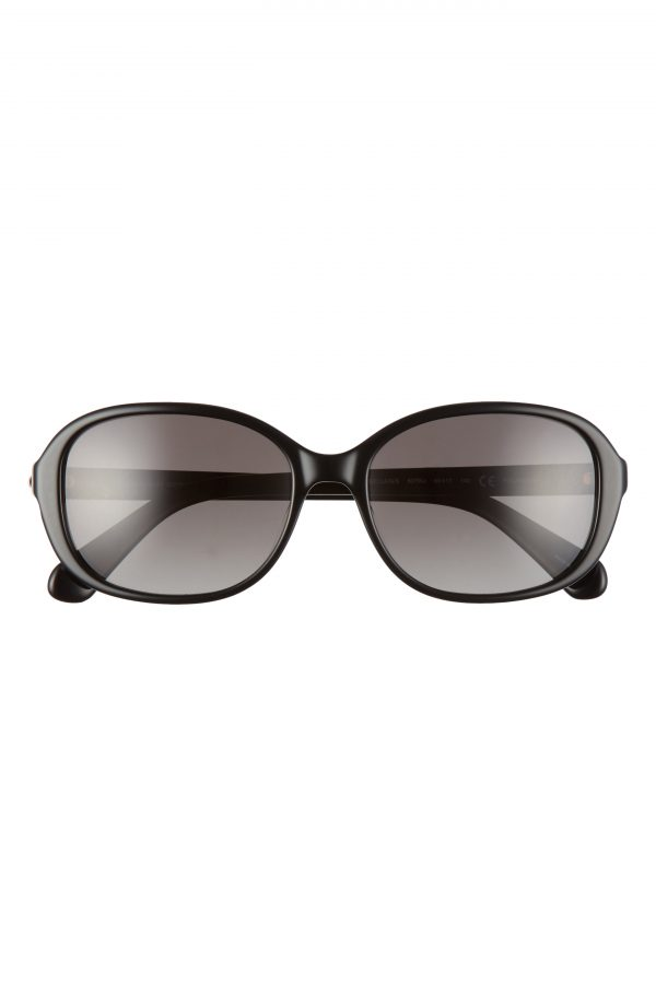 Women's Kate Spade New York Izabella 55mm Gradient Oval Sunglasses - Black/ Grey